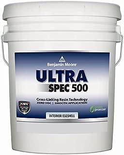 Benjamin Moore Ultra Spec 500 Interior Paint - Eggshell Finish (5 Gallon, White)