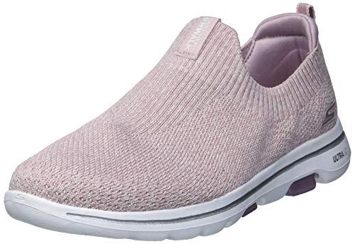Skechers Damen Sneaker Go Walk 5 Trendy Textile Trim rosa Gr. 38