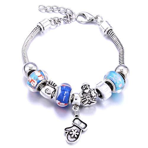 Jewellery Bracelets Bangle For Womens Bracelet Snowflake Jewelry Beaded Bracelet Earrings Decoration Gift Lady Jewelry-1