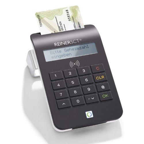 Reiner SCT cyberJack RFID komfort - Der Komfort-Chipkartenleser für sicheres Onlinebanking und den neuen Personalausweis (nPA), schwarz