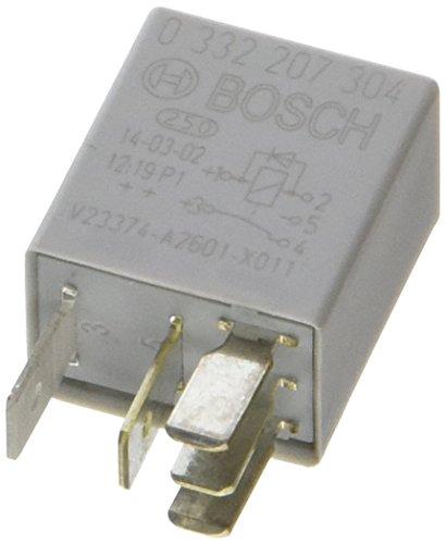 Bosch 0332207304 Micro-Relais 12V 20A, IP5K4, Betriebstemperatur von -40° bis 85°, Wechselrelais, 5 Pin Relais mit Diode