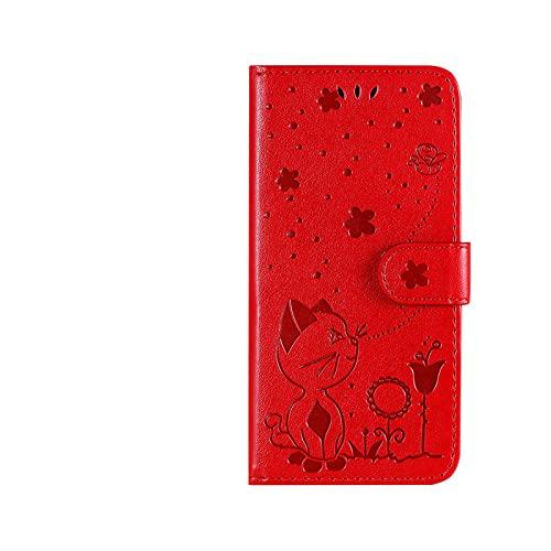 Funda de piel sintética para Sony Z3 Z5 Xz5 L4 Xperia 2 5 Xperia 10 II Xperia 20 con ranuras para tarjetas y tarjetero