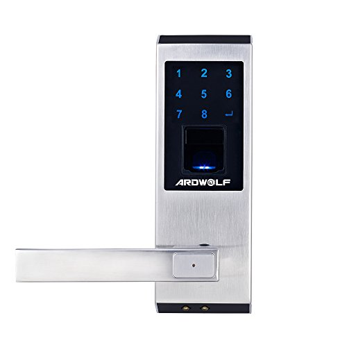 Ardwolf A20 Security High-sensitivity High-Recognition Rate Keyless Biometric Fingerprint Door Lock, Left-Handed