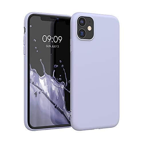 kwmobile Cover Compatibile con Apple iPhone 11 - Cover Custodia in Silicone TPU - Backcover Protezione Posteriore- Lavanda Pastello