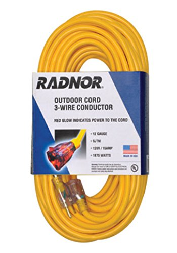 Radnor 64006304 12 3 X 50' End With Credence Extension free shipping Lighted Cord