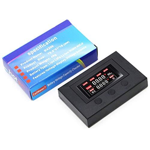 ICQUANZX BX200 Batterieanzeige Spannung Summer Alarm Stromanzeige Batteriespannungsprüfer Radioanzeige Für RC-Batterie