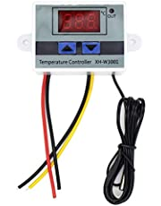 Lightofhope 10A AC110-220V Digital LED Temperature Controller XH-W3001 for Incubator Cooling Heating Switch Thermostat NTC Sensor