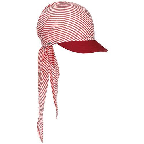 McBURN McBurn Jasmine Bandana Cap Damen - Strandcap Stoffhaube mit Schirm, Schirm Frühling-Sommer - One Size rot