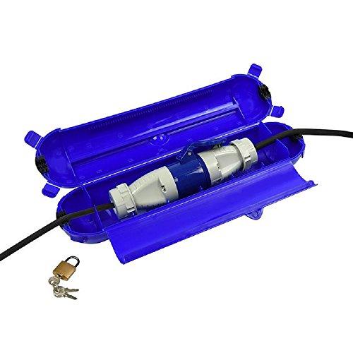 ProPlus Sicherheitsbox für CEE-Stecker und Kupplung, blau