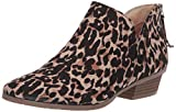 Kenneth Cole REACTION Women's Side Way Ankle Bootie Boot, Leopard, 8 M US