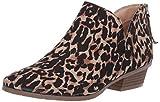 Kenneth Cole REACTION Women's Side Way Low Heel Ankle Bootie, Leopard, 9.5 M US