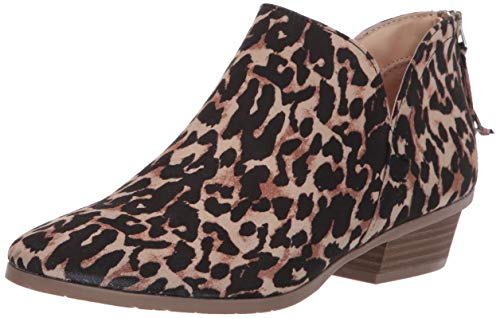 Kenneth Cole REACTION Women's Side Way Low Heel Ankle Bootie, Leopard, 8.5 M US