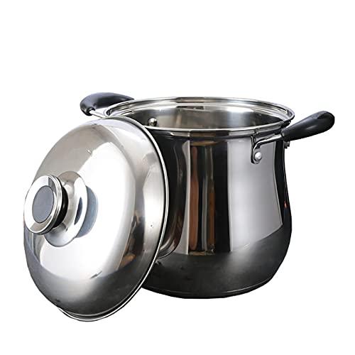 Pentole fumanti Pentola di riserva, vaso di zuppa di acciaio inossidabile della famiglia, vaso di cottura con coperchio, (3,5-13l), per 1-9 persone, per stufa a gas/in forma di induzione Recipiente