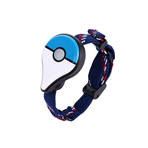 Wiouy For Pokemon Go Plus Bluetooth-Armband, interaktive Figur, Spielzeug für Nintend Switch Pokemon Go Plus, Blau und Weiß