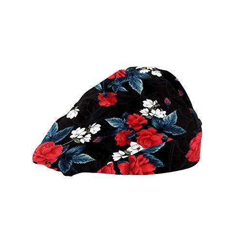ASIGA - Cappellino da lavoro da donna con fascia in cotone, regolabile, con fascia elastica...