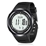 Beeasy Men's Military Watch Outdoor Sports Digital Watches for Men with Altimeter, Barometer, Compass, Pedometer