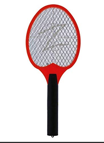 KORAMZI F-5 Electric Mosquito Swatter, Bug Zapper,Mosquito Racket for Indoor and Outdoor Insect Control (Red)