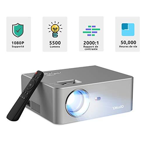 classement un comparer Projecteur vidéo YOHOOLYO Mini projecteur 5500 lumens Support projecteur Full HD 1080P…