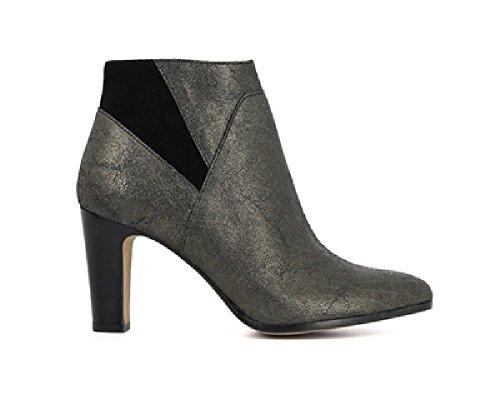 Schmoove Boots Stellar Pewter/Nero Cuir Femme (37)