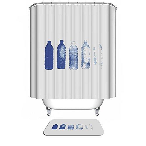 Duschvorhang für das Badezimmer Duschvorhänge aus Polyester von HarsonundJane (Umweltfre&lich, 180 × 180 cm)