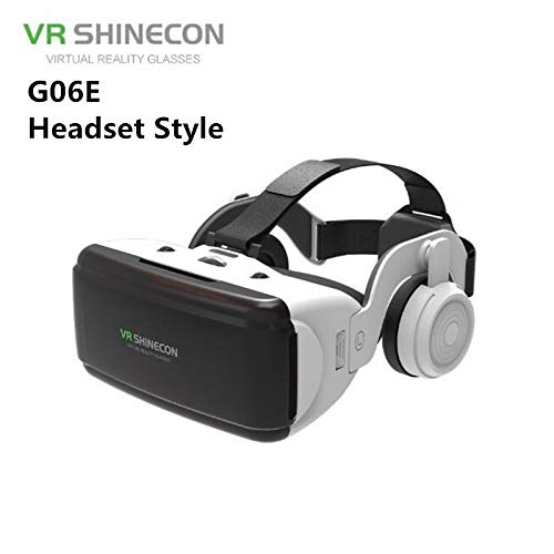 MeterMall VR Virtual Reality 3D Bril Box Stereo VR Google Karton Headset Helm voor IOS Android Smartphone, Bluetooth Rocker G06E Headphone Edition