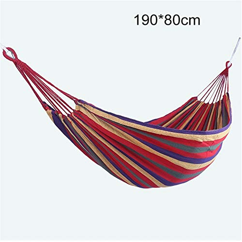WXQHYD 2020 Double Wide Thick Canvas Hammock Outdoor Camping Backpackaging Leisure Swing Portable Hanging Bed Sleeping Swing Hammock