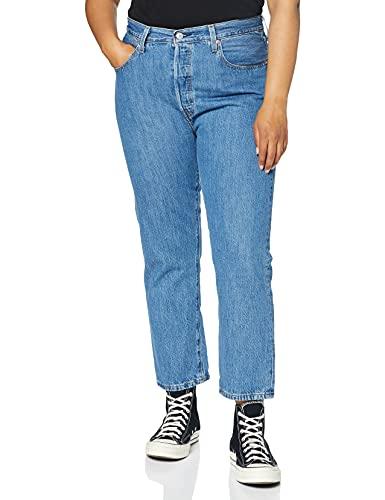 Levi's 501 Crop Jeans, Sansome Breeze Stone, 23W / 26L para Mujer