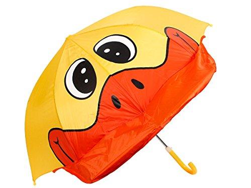 Alsino Kinder Regenschirm Kinderschirm Marienkäfer Frosch Ente Schirm Kinderregenschirm Jungen Mädchen, Variante wählen:61/1960 Ente
