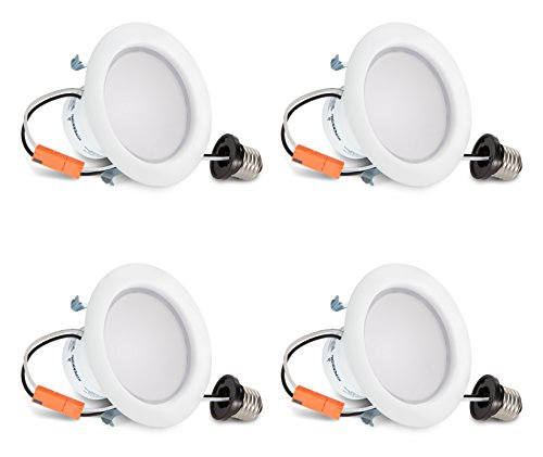Hyperikon 4 Inch LED Recessed Lighting, 9W=65W, Dimmable Downlight, UL, Energy Star, Soft White, 4 Pack