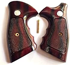 DOXICON&NOMIX Hardwood K Frame Square Butt Smith and Wesson Handcraft Handmade Grips Revolvers Checkered