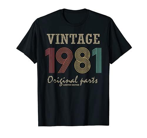 Piezas originales vintage 1981. Regalo de cuarenta y cuarenta cumpleaños Camiseta