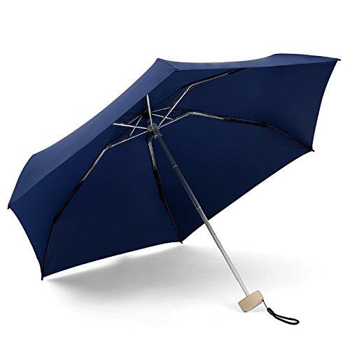 Rainkuu Mini Windproof UV Umbrella automático Compacto Portátil Ligero, Plegables Viajes Totes Parasol