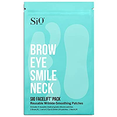 SiO Beauty FaceLift | Neck, Forehead, Eye & Smile Anti-Wrinkle Patches | Overnight Smoothing Silicone Patches For Face, Neck, Forehead, Eye & Smile Fine Lines And Signs Of Aging by SiO Beauty