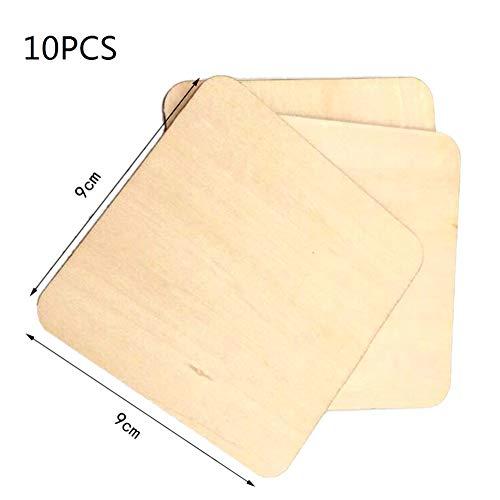Savlot natuurlijke houthaksnijder, ronde hoeken, vierkante houten haksnijder, houten plank, doe-het-zelf kaartendecoratie, handwerk