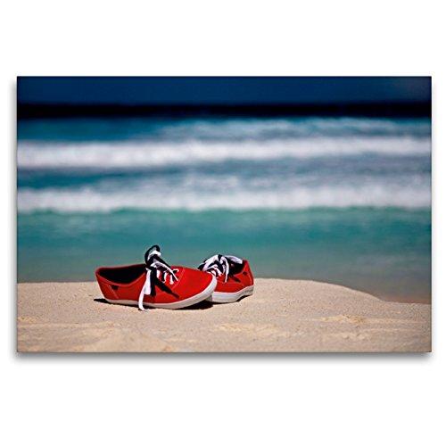 CALVENDO Premium Textil-Leinwand 120 x 80 cm Quer-Format Red Shoes, Leinwanddruck von Bild-erzaehler
