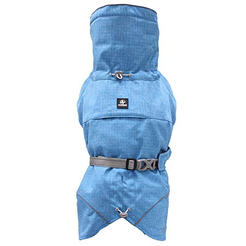 Croci Hiking Hundemantel, wasserdicht, für Hunde, gefüttert, Wintermantel, Thermofutter, Everest Türkis, Größe 55 cm - 381 g