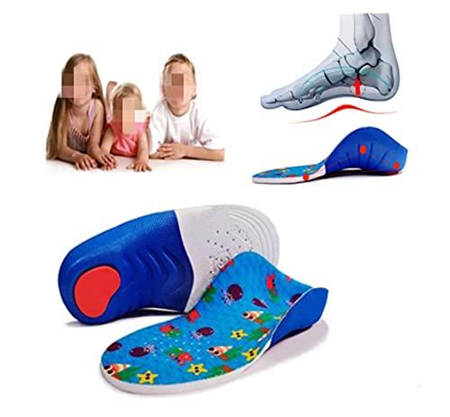 Plantilla cómoda Plantillas ortopédicas para niños, soporte profesional de arcos, pies planos, corbatas, zapatos ortopédicos para niños, suela, inserción del talón, cuidado de los pies Plantilla orto