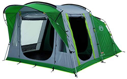 Coleman, Modello: Oak Canyon - Tenda da Campeggio a Tunnel per 4Persone, con cuccette in Ambiente Interno abitabile Colore Nero (impermeabilità WS 4.500 mm)