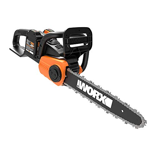 WORX WG384 40V (2.0Ah) Power Share Chainsaw, 2 Batteries and 1-hr Charger Included