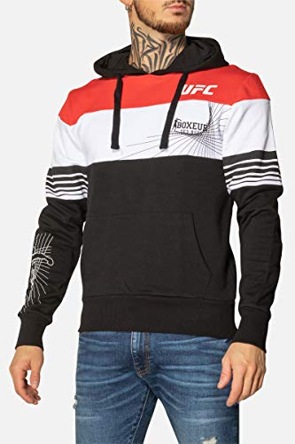 Boxeur des rues - UFC Hooded Sweatshirt with Logos Printed On Front and Back, Man
