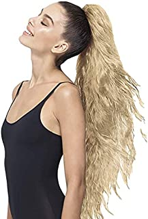 PRETTYPARTY Roxy Wavy Pony Tail Hair Clip-On Hair Accessory Extension (Medium Blonde) 11002