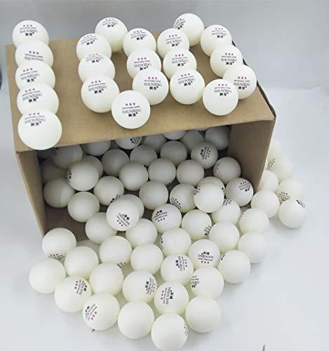 XUNXING Tischtennisball, 40 mm, strapazierfähig, für Wettkampftraining, Weiß, 100 Stück