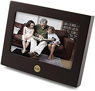 OneWorld Memorials Photo Frame Wood Keepsake Urns - Extra Small Holds 1 Cubic Inch of Ashes - Brown Cremation Urn for Ashes - Engraving Sold Separately