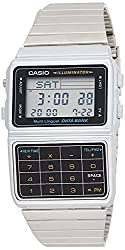 professional Casio Men's Silver Tone 25 Memory Computer Database Watch