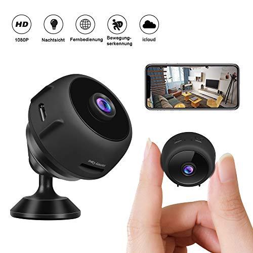 Minikameras - CUSFLYX iCloud Tragbar 1080P W-LAN Full HD Nanny Haustier Büro Garage...