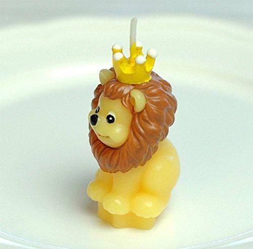 Leisial - candele a forma di animali, galleggianti, senza fumo, per compleanni, matrimoni, feste, decorazione, tè, ideali come regalo, 1 pezzo 4.5*4.5*7CM Leone