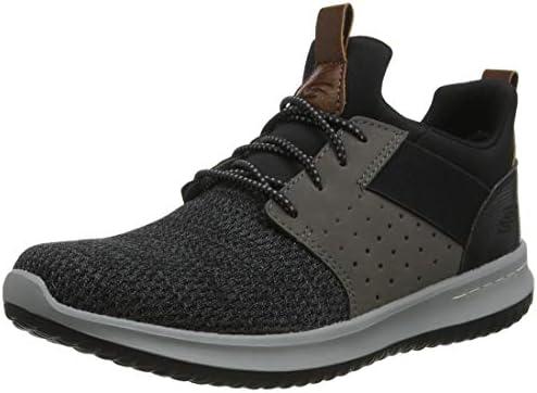 Skechers Men s Classic Fit Delson Camden Sneaker Black Grey 8 Wide US product image