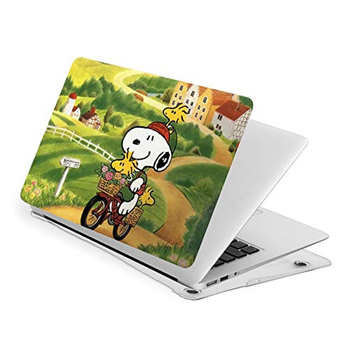 Snoopy Case for MacBook Air Pro 13 15 inch Plastic Hard Shell Protective Sleeve and Bottom case touch13