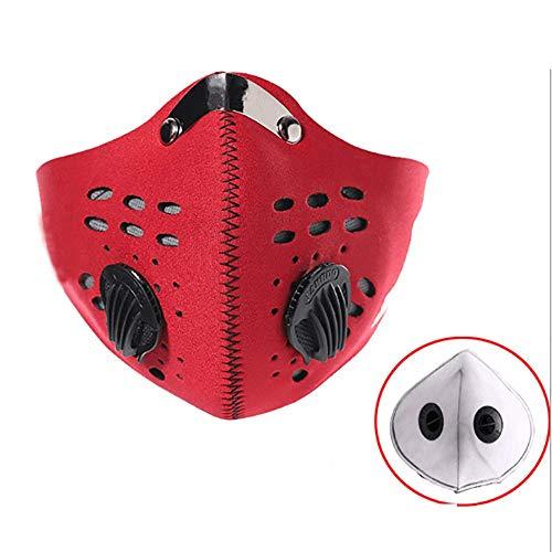 LIYOUPIN Máscara Antivaho PM2.5, Pasamontañas, Antipolución, Antipolvo, Resistente Al Viento Y Al Calor, Máscara para Bicicleta De Montaña, Adecuada para Varios Deportes Al Aire Libre