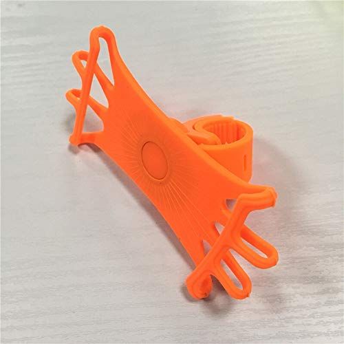 JUNLILIN Bicycle Phone Holder Bicycle Phone Holder Universal Mobile Cell Phone Holder Bike Handlebar Clip Stand GPS Mount Bracket (Color : Orange)